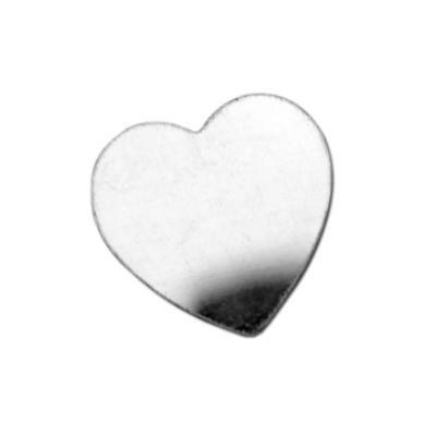 Sterling Silver Heart 16x16mm 24g Stamping Blank x1