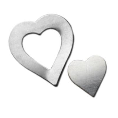 Sterling Silver Pair of Hearts 21x20mm 24g Stamping Blanks - Washer Set
