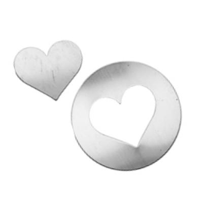 Sterling Silver Washer with Heart Centre Piece 31.7mm 24g Stamping Blanks