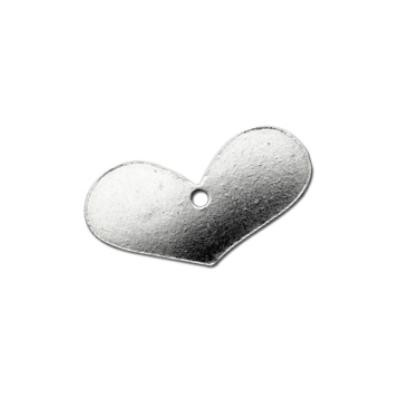 Sterling Silver Fat Heart 19x10mm 20g Stamping Blank x1