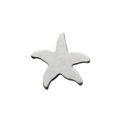 Sterling Silver Starfish 10.5mm 24g Stamping Blank x1