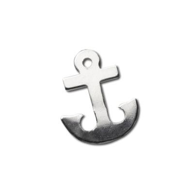 Sterling Silver Anchor 11x9mm 24g Blank Charm x1