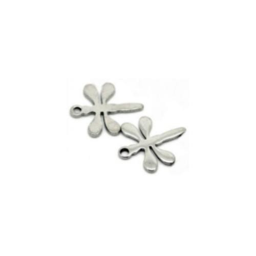 Stainless Steel Dragonfly 11.5x10mm 20g Blank Charms x2
