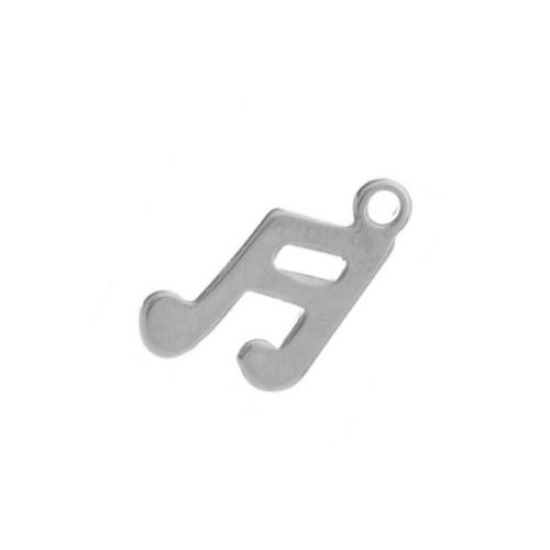 Stainless Steel Music Note 12.5x7.5mm 20g Blank Charms x1