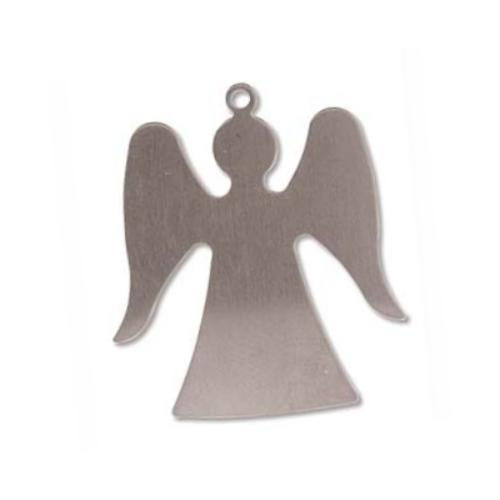 Sterling Silver Angel 1 1/4 inch 32.2x28.3mm 24g Stamping Blank x1