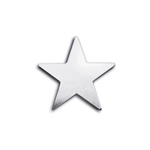 Sterling Silver Star 15mm 25ga Stamping Blank x1