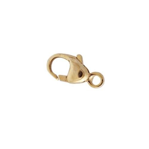 14kt Gold (Solid) 4x7.8mm Parrot Clasp x1