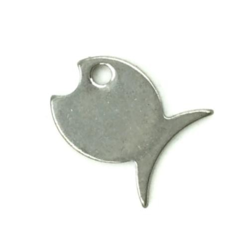 Stainless Steel Fish 15x12.5mm 20g Stamping Blank Charm x1