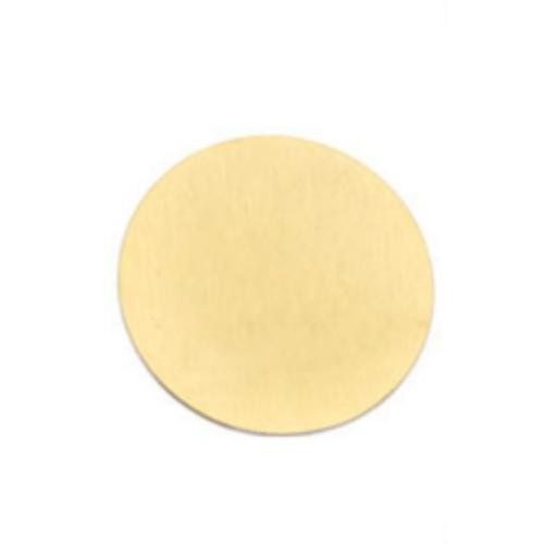 Gold Stainless Steel 316L Circle 22mm Stamping Blank Plate fits 30mm Floating Lockets x1