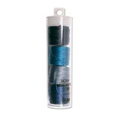 S-Lon, Super Lon Heavy Macrame Cord Tex400 Blue Mix