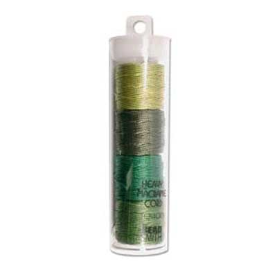 S-Lon, Super Lon Heavy Macrame Cord Tex400 Green Mix