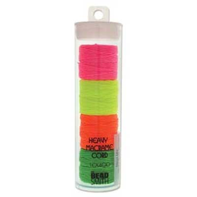 S-Lon, Super Lon Heavy Macrame Cord Tex400 Neon Mix