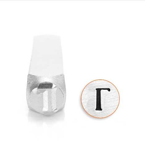 *PRE-ORDER, Special Order* Gamma Greek Letter 6mm Metal Stamping Design Punches - ImpressArt