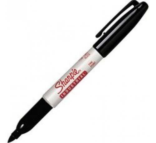Sharpie Industrial Permanent Marker Pen, Fine Point - Black
