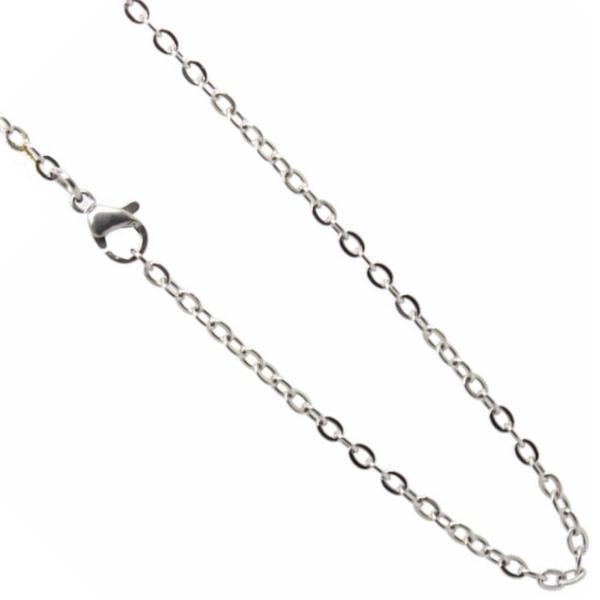 Stainless Steel **mm Cable Chain Necklace 20 inch (51cm) Silver x1
