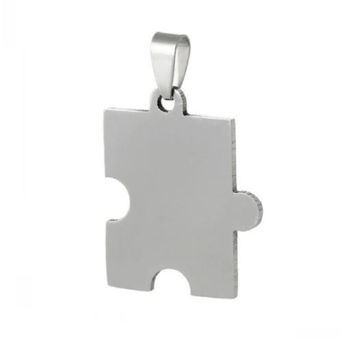 Stainless Steel Jigsaw Puzzle Piece 32x25mm 16g Stamping Blank x1