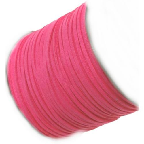 Faux Micro Suede Flat Cord 3mm - Bubblegum per metre
