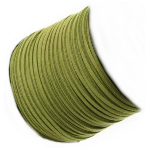 Faux Micro Suede Flat Cord 3mm - Jungle per metre