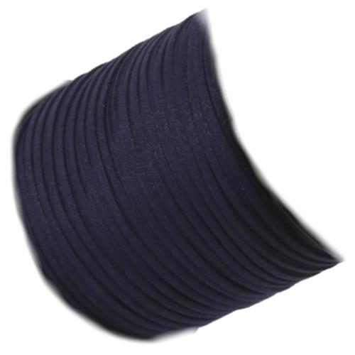 Faux Micro Suede Flat Cord 3mm - Navy per metre