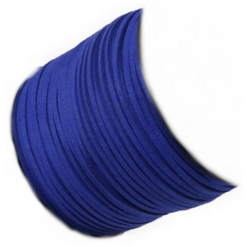 Faux Micro Suede Flat Cord 3mm - Royal per metre