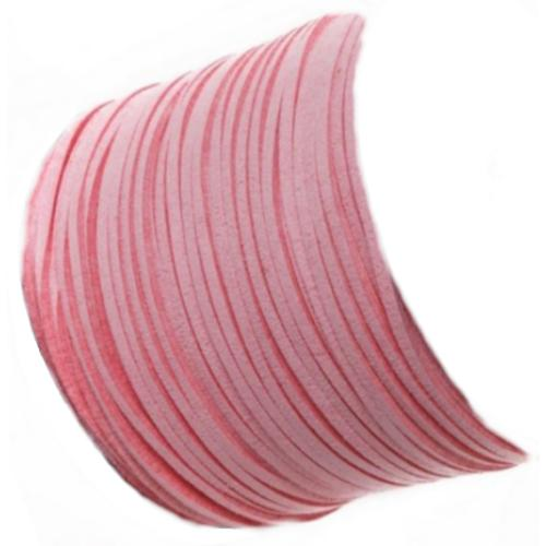 Faux Micro Suede Flat Cord 3mm - Candy Floss per metre