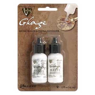 Vintaj Matte & Gloss Glaze Mini Pack .5oz. (15ml) by Ranger