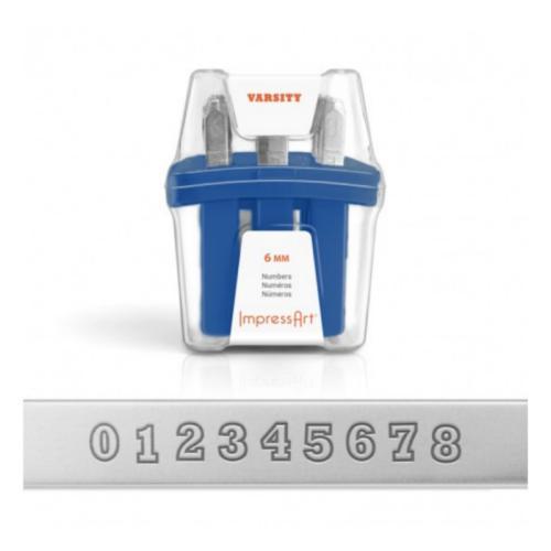 ImpressArt Varsity Number 6mm Metal Stamping Set