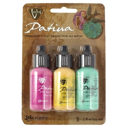 Vintaj Patina Kit Pack, Key West by Ranger x3 0.5oz Bottle Pack