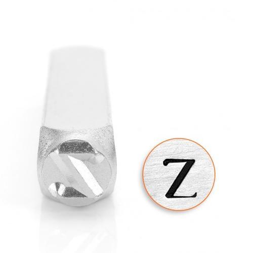 Zeta Greek Letter 6mm Metal Stamping Design Punches - ImpressArt