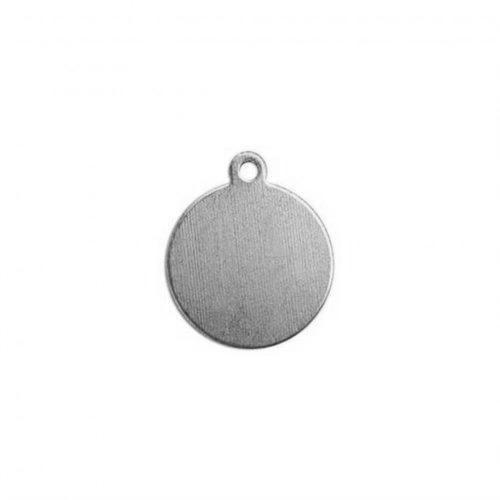 Nickel Silver Circle Drop 12.9mm (1/2 inch) 24ga Stamping Blank x1
