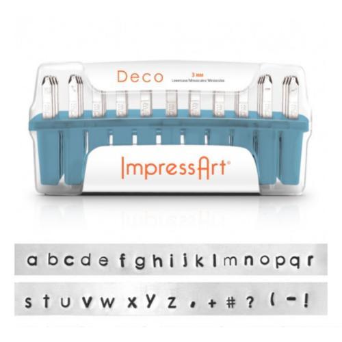 ImpressArt Deco 3mm Alphabet Lower Case Letter Metal Stamping Set