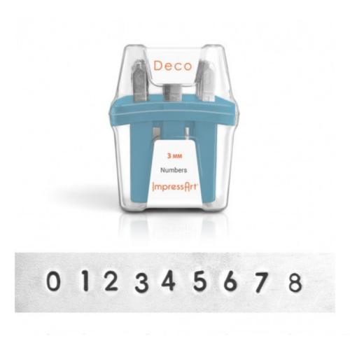 ImpressArt Deco Number 3mm Metal Stamping Set