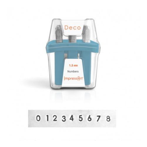ImpressArt Deco Number 1.5mm Metal Stamping Set