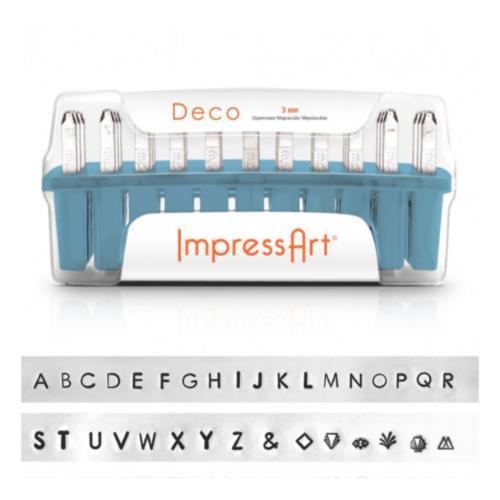 ImpressArt Deco 3mm Alphabet Upper Case Letter Metal Stamping Set