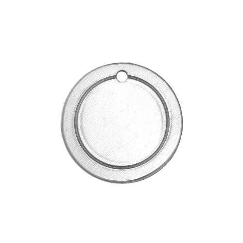 Alkeme Silver Soft Strike Border Circle (3/4) 19mm 18ga Stamping Blank x1