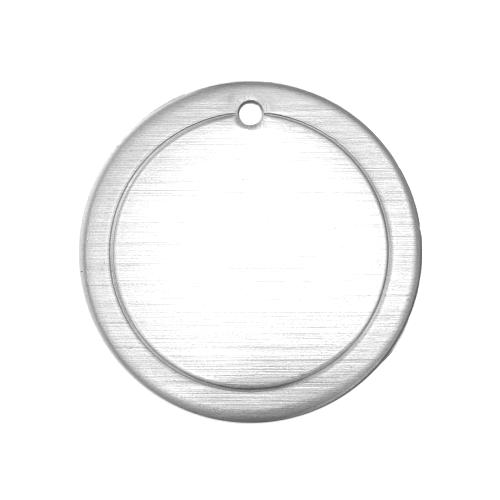 Aluminium Soft Strike Border Circle (1in) 25mm 16ga Stamping Blank x1