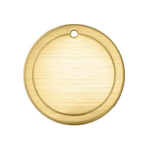 Brass Border Circle (1in) 25mm 18ga Stamping Blank x1