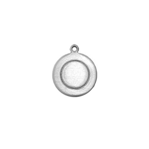 Aluminium Soft Strike Border Circle w/ring (1/2) 13mm 16ga Stamping Blank x1
