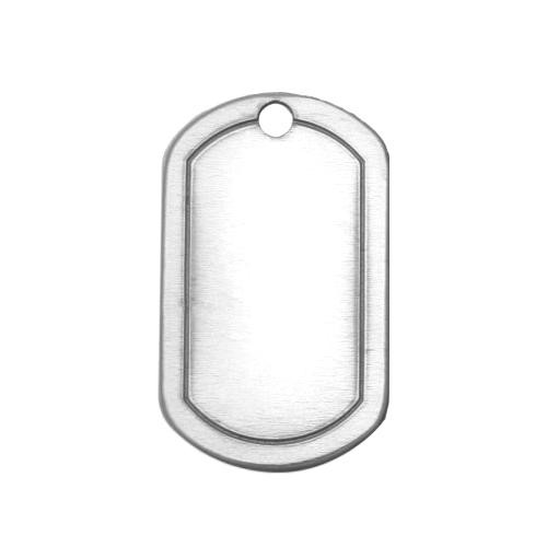 Alkeme Silver Soft Strike Border Dog Tag (1 1/4x3/4) 32X19mm 20g Stamping Blank x1