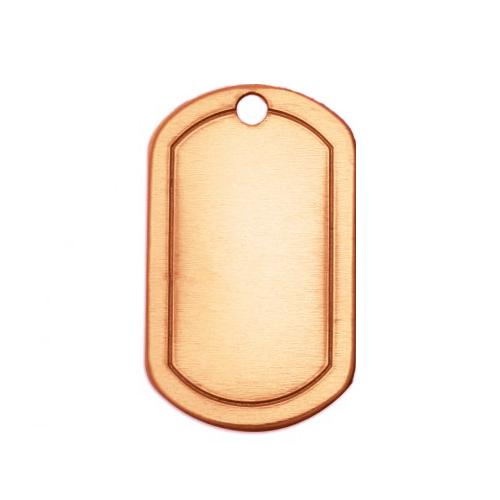 Copper Metal Stamping Blank, Border Dog Tag (1 1/4x3/4) **mm 20ga x1