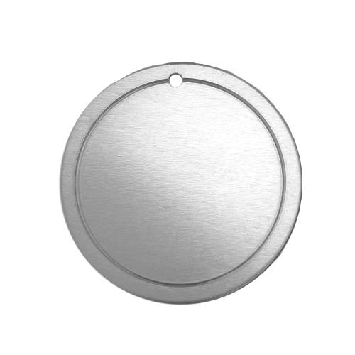 Alkeme Silver Soft Strike Border Circle (1 1/4) 31.7mm 18ga Stamping Blank x1