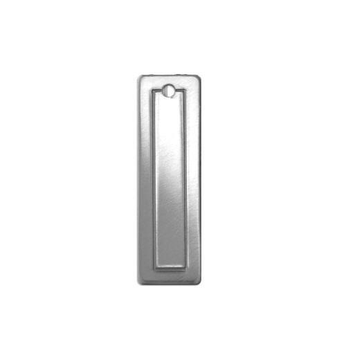 Alkeme Silver Soft Strike Border Rectangle (small) 30.4x9.2mm 18ga Stamping Blank x1