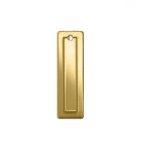 Brass Border Rectangle (small) 30.4x9.2mm 18ga Stamping Blank x1