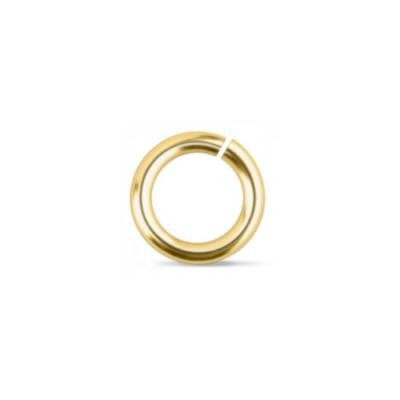 Brass Jump Rings ~ 6mm (4mm id) 19g approx 50 Pack (IA)