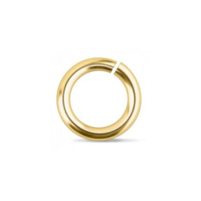 "Brass Jump Rings ~ (3/16"") 7.2mm (4.8mm id) 18g approx 25 Pack (IA)"