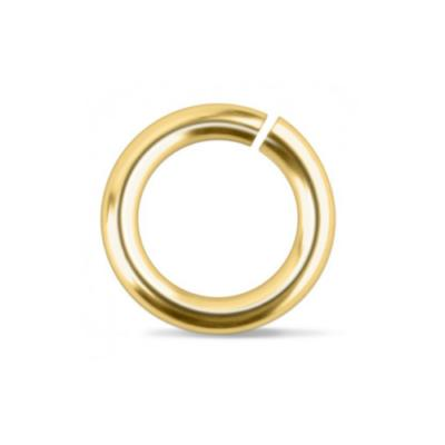 """Brass Jump Rings ~ (1/4"""") 9.7mm (6.6mm id) 16g approx 25 Pack (IA)"""