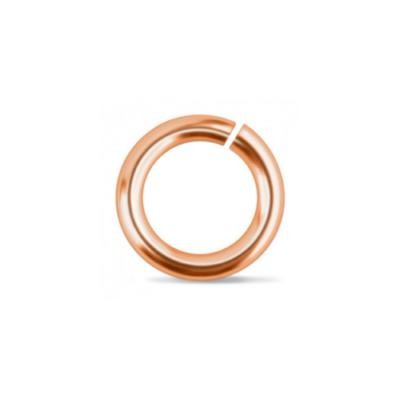 "Discontinued - Copper Jump Rings ~ (3/16"") 7.2mm (4.8mm id) 18g approx 25 Pack (IA)"