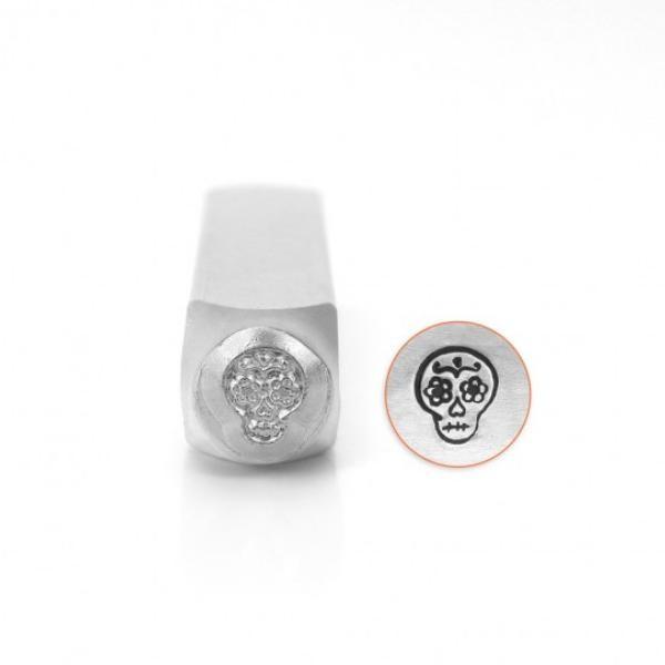 ImpressArt, Sugar Skull 6mm Metal Stamping Design Punches