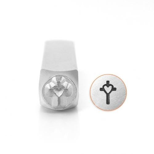 ImpressArt, Cross with Heart 6mm Metal Stamping Design Punches