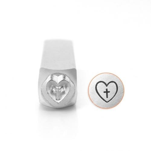 ImpressArt, Cross in Heart 6mm Metal Stamping Design Punches